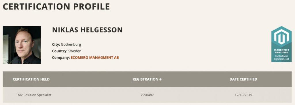 Certifierad Svensk Magento Konsult