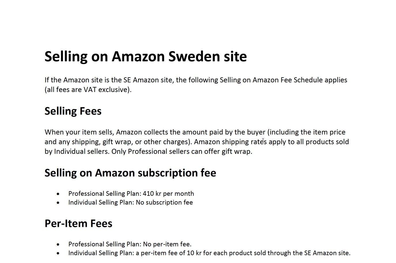 Amazon Sverige priser